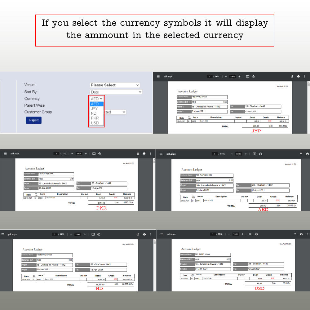 By Selecting Currency