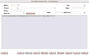 Enter Material Return Note - Packing Material